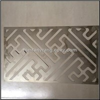 304 stainless steel perforated plate laser cuting