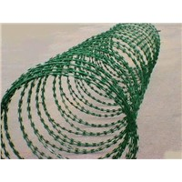 powder coated Concertina Razor Wire
