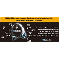Bluetooth Headset Gaming with noise-reduction MIC for PC/MAC/Car/PSP/PS3 v2.0+EDR
