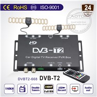 Car DVB-T2 TV Tuner with PVR USB, High Speed 150km.h