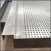 Galvanized perforated metal ceiling tiles