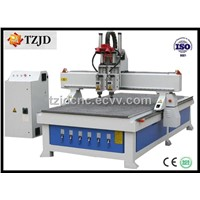CNC Router with Pneumatic Tool Changer Spindle TZJD-1325BDV