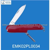 Promotional knife with ABS handle in red (EMK02PL0034)