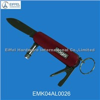 Stainless steel pocket knife with LED torch(EMK04AL0026)