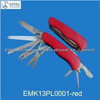 High quality stainless steel swiss knife with ABS handle (EMK13PL0001-red )