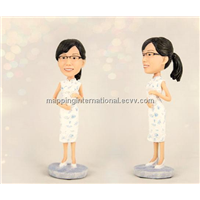 Wobbly Head Funny Figure Lively Figure Toys 2014 Resin Toys