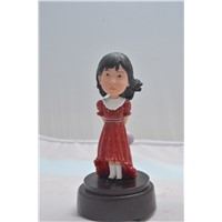 Wobbly Head Girl Figure Lively Figure Toys 2014 Resin Toys