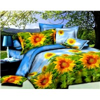 100% cotton 133X72 40s reactive printing bedding set rotary design
