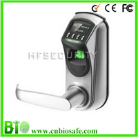 Fingerprint and code door lock with USB