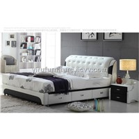 1.8*2.0 Geniune Leather Soft Bed Moden Style