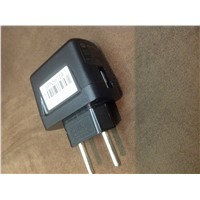5V 1000MA 1.0A 5W 2 pin adapter & super lim mobile phone charger for Iphone/Cell phone