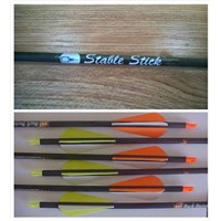Carbon Fiber Arrows with Logo, Silk Screen Print Logo on Carbon Fiber Arrow Shafts