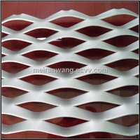 diamond shape aluminium steel expanded metal mesh