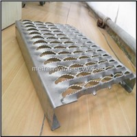Non slip perforated aluminum channel