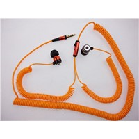 New metal earphone with 5 meters telephone cable