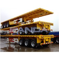 3 axles flatbed truck trailer for sale