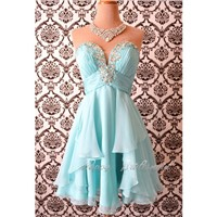 Deep V-neck Prom Dress, Homecoming Dress, Sexy Tiffany Blue Short Cocktail Dress