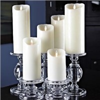 Luminara Ivory Flameless Candle LED Wax Candle with Timer and Realistic Flame