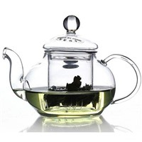 Beautiful Glass Tea Set 600ml Hand Made Glass Teapot High Borosilicate Glass Material Teapot