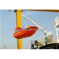 MED Approval F.R.P. Partially Enclosed Life Boat With Davit