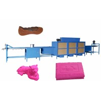 PVC shoe flocking machine