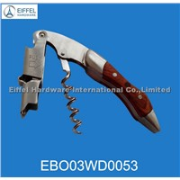 High quality two step red wine opener with wood handle(EBO03WD0053)