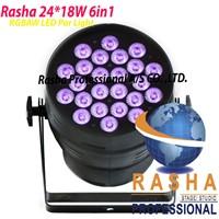Rasha Stage Light 24pcs*18W 6in1 RGBAW+UV LED Par Light,LED Par64 Can,Stage Light