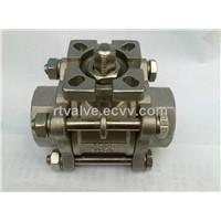 3PC threaded ball valve