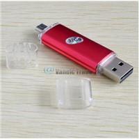 32GB USB Flash Drive OTG External Storage Micro USB-USB Memory Stick for Smart Phone Tablet PC