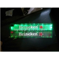 LED light soft pvc rubber beer bar Mat with rechargable battery inside