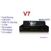 SKYBOX V7 Satellite Receiver VFD Support 2xUSB WEB TV