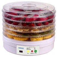 Food Dehydrator with Digital Timer, Temperature Control and LCD Display (FD-770A-S)