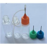 Hot Sale 10ML Plastic PET E-juice Clear Bottle Needle Tip Dropper Colorful Cap Bottle For E-liquid