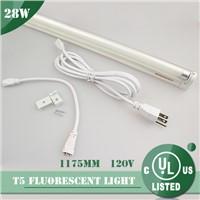 120V UL 4FT 28W T5 fluorescent lamp