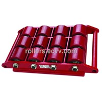 Cargo trolley applied on moving heavy duty equipment