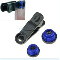 3in1 Fish Eye + Wide Angle Micro Lens Camera Kit for iPhone 5S 4S i9600 DC264R