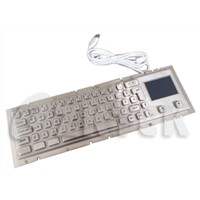industrial metal keyboard with touchpad (MKD2752, 370.0mm x 102.0mm)