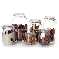 air tight glass jar for food