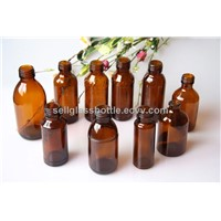 amber glass medicine bottle