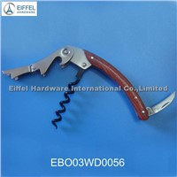 High quality two step wine opener with wood handle (EBO03WD0056)