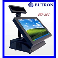 touch screen pos system, 15'' touch screen monitor