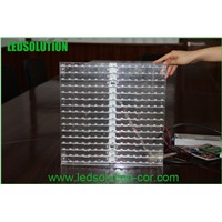 High Resolution P10 super bright wall glass led display