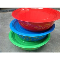 Steel colorful Washbasin with lid, color steel washbasin, steel basin with lid,steel storage pan