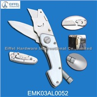 High quality multifunction cutting knife with LED torch on handle (EMK03AL0052)