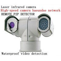 laser infrared yuntai camera at a high speed police car IP alarm webcam