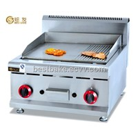 LPG stainless steel table Top Gas Griddle(BY-GH586)