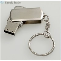 Metal Roating USB2.0 Flash Memory Drive 32GB Stick Pen Keychain Thumb U Disk