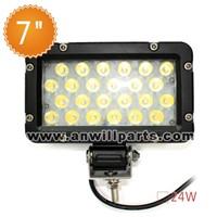 100% Aluminum design 9-32V/DC 24W led work light for ATV and Off-road led works light