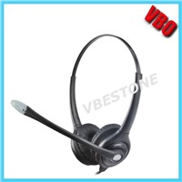 Noise-Cancelling Headphone Rj11 Rj9 Call Center Telephone Headset