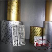Printable aluminum foil for drug blister packaging
